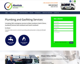 Absolute Plumbing and Gasfitting - Trade Website