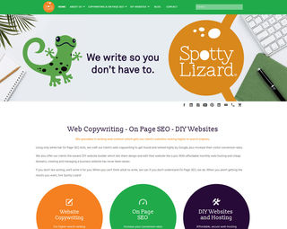 Spotty Lizard - Copywriting SEO Marketing Website